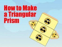 Triangular Prism - How to Make a Triangular Prism - a Printable 3d Net