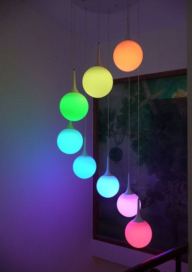 I Wanna Make A Funky Lamp Similar To This. Though Battery Powered, Our Color