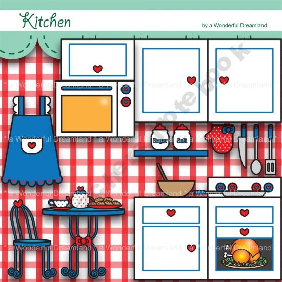 Kitchen Design Clip Art: 88 Best Images About KITCHEN CLIP ART On Pinterest