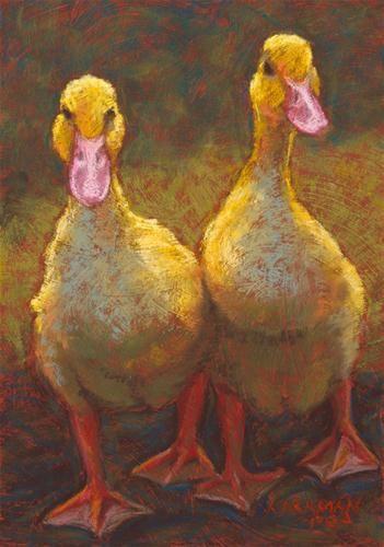"""Walking Out Together"" - Original Fine Art for Sale - © Rita Kirkman"