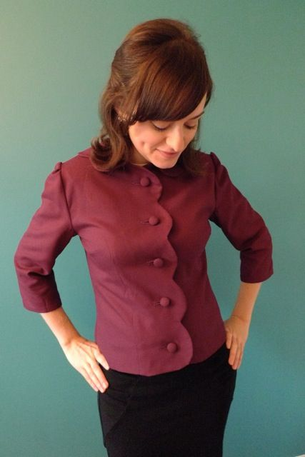 Tilly and the Buttons: The Betty Draper Suit - finished jacket!