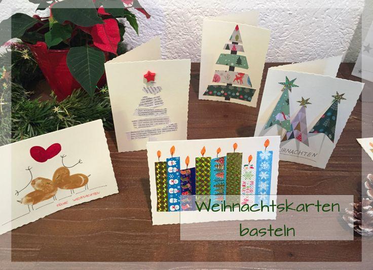 Weihnachtskarten basteln mit Masking Tape, Motivpapier und Fingerfarbe: wir sammeln Ideen   und Anleitungen, wie ihr Karten zu Weihnachten selbst gestalten könnt und haben auch Vorschläge für einen passenden Text oder ein Gedicht: https://www.familienkost.de/artikel_weihnachtskarten_basteln.html