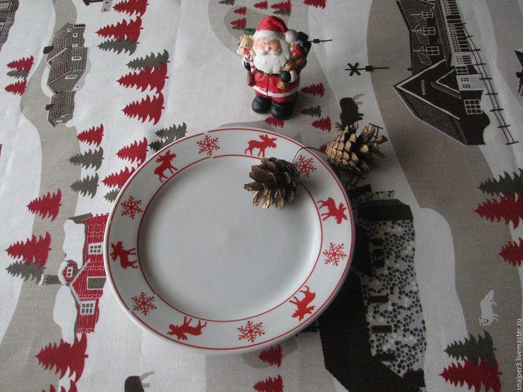 """Купить Скатерть """"Где живёт Дед Мороз?"""" скатерть скатерть новогодняя скатерть…"""