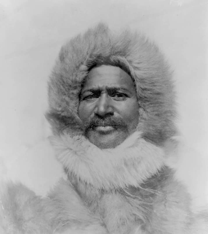 Matthew Henson was the first African American Arctic explorer. Henson was a navigator and craftsman and acted as tradesman with the Inuit people. He was part of a party of explorers who are recognized as the first to reach the geographic North Pole, and in 1937, he was invited to become a member of the Explorers Club.