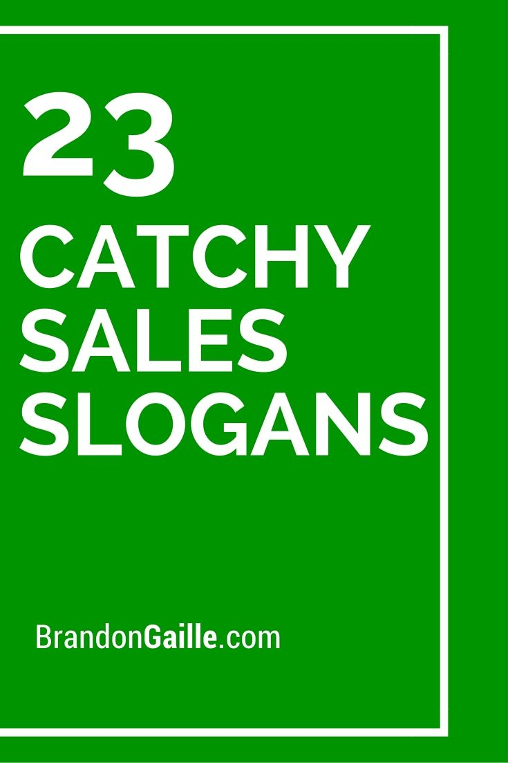 List Of The Best Catchy Sales Slogans Library Signs