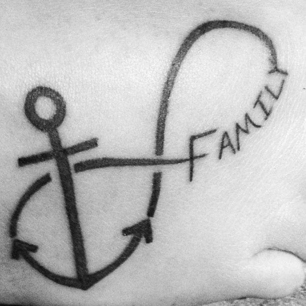 My first! #tattoo #family #anchor | Tattoos I like | Pinterest