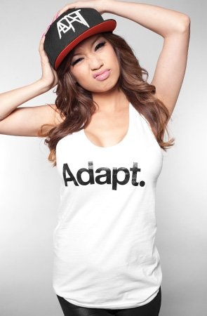 Adapt The CTA Tank Top,Tops Sleeveless for Women, Large,White/Black. From #Adapt. Price: $34.00