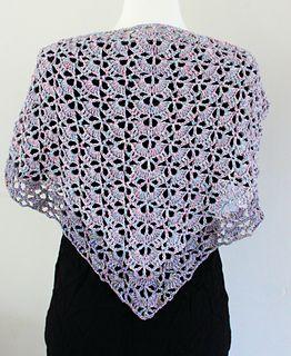 Daisy Field Triangle shawl / scarf