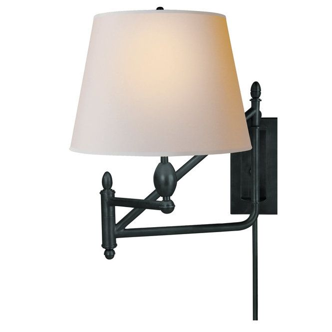 Check out Gentleman's Library Swing Arm Wall Sconce from Shades of Light