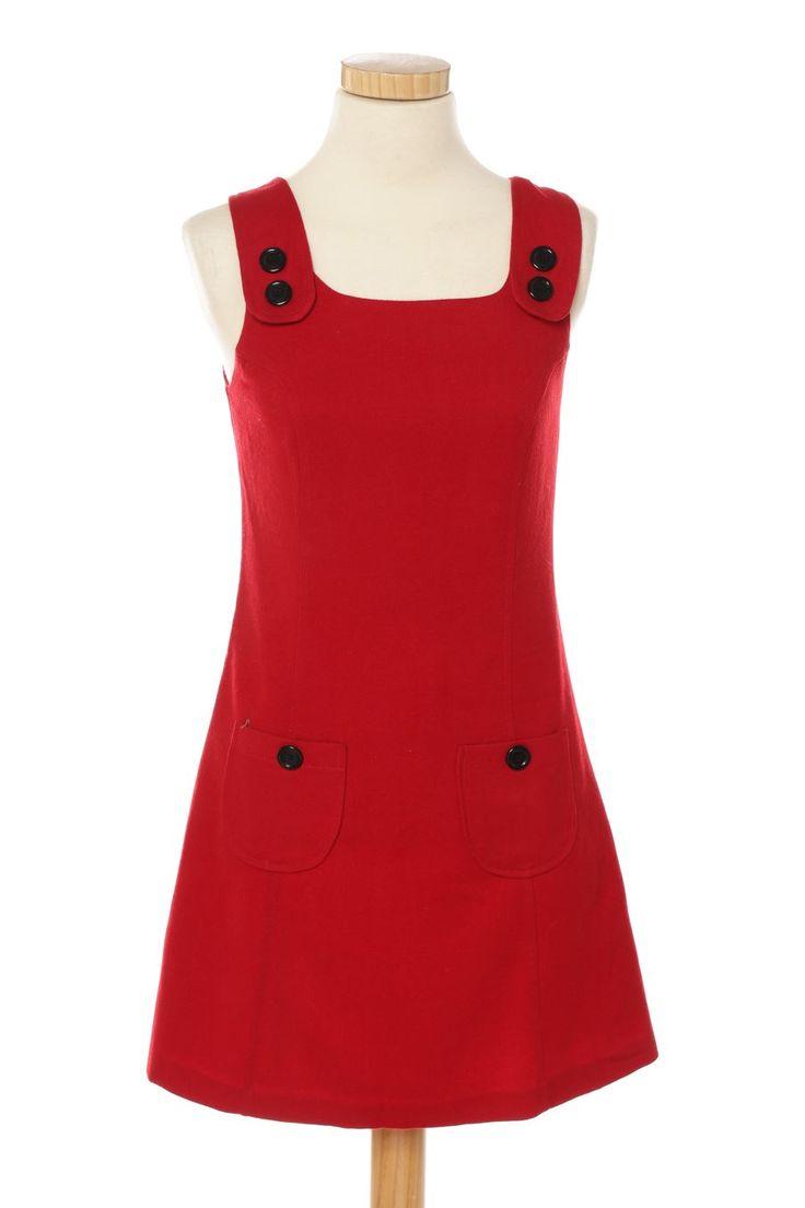 Vestido casual de new look de la talla 36, de color rojo