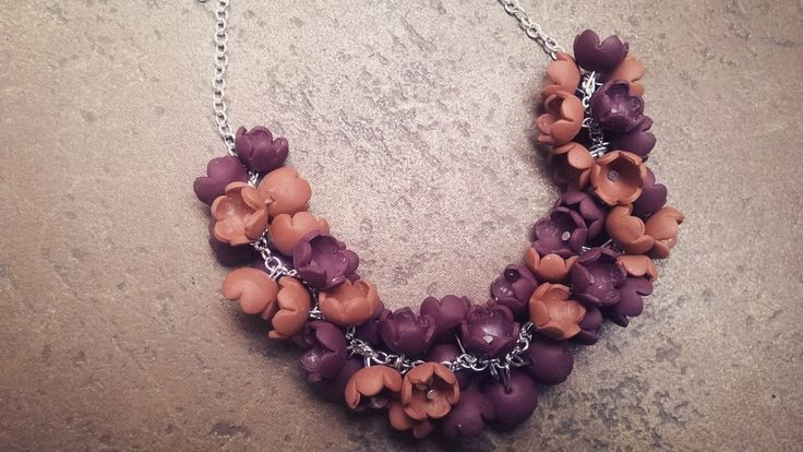 handmade necklace made from polymer clay