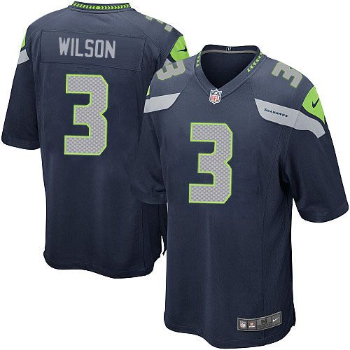 nfl jersey near me Russell Wilson Seattle Seahawks Nike Youth Team Color  Game Jersey - College Navy