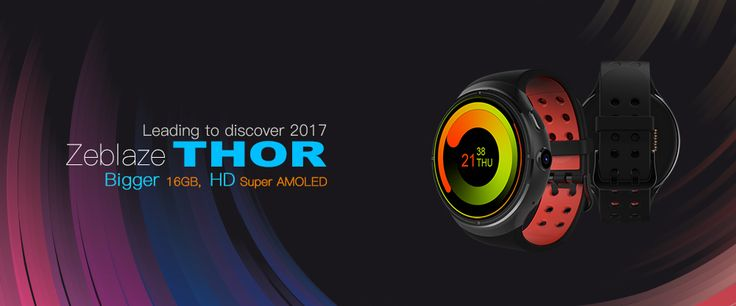 Zeblaze THOR 1.4inch Super AMOLED 400*400 1GB+16GB GPS WIFI with SAMSUNG Heart Rate Chip Smart Watch