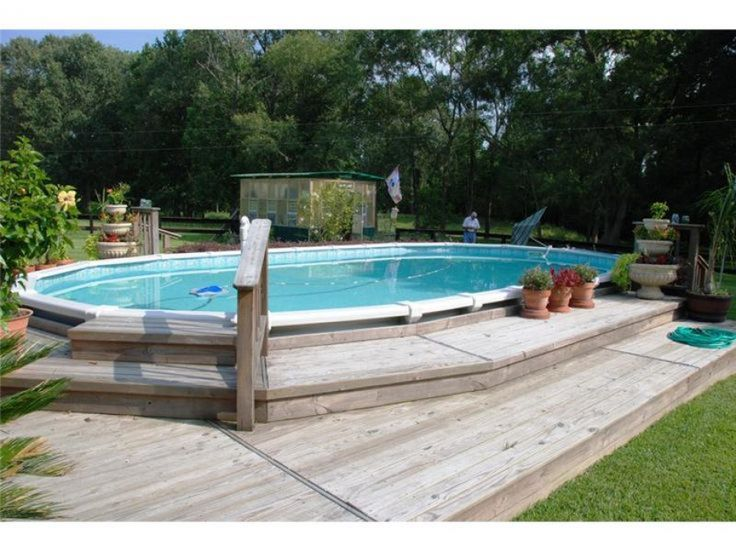 Above ground pool photo gallery photo gallery backyard - Above ground swimming pools with deck ...