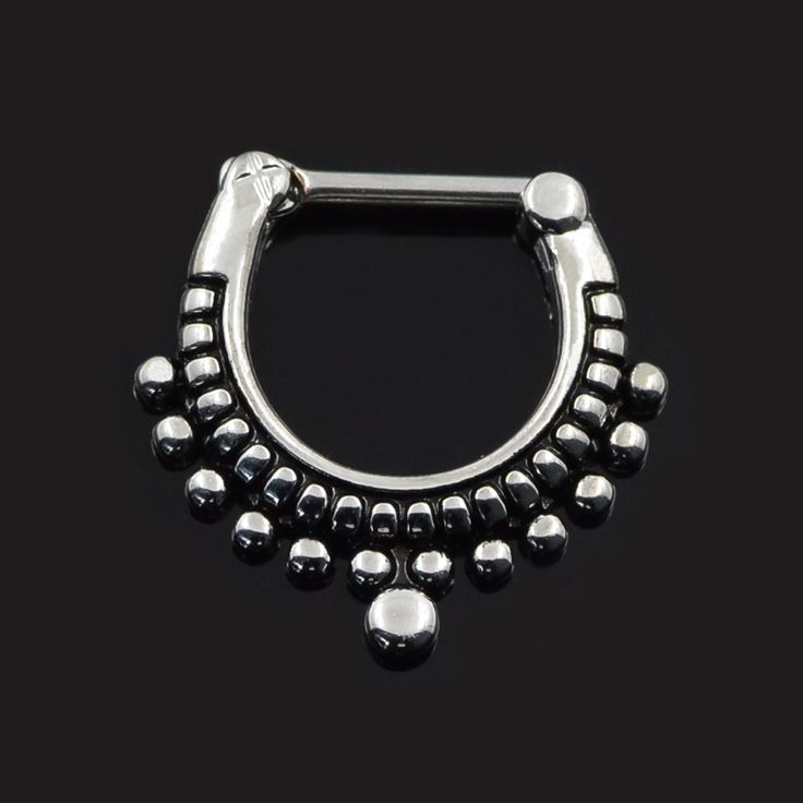 Find More Body Jewelry Information about Septum clicker nose piercing jewelry 316L Black Septum Clicker Hinged Beaded Nose Ring Septum Piercing Jewelry faux septum rings,High Quality jewelry toe ring,China jewelry engrave Suppliers, Cheap ring opal from Longbeauty on Aliexpress.com