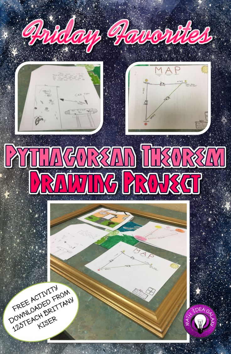 136 best pythagoras images on pinterest pythagorean theorem friday favorites pythagorean theorem drawing activity robcynllc Image collections