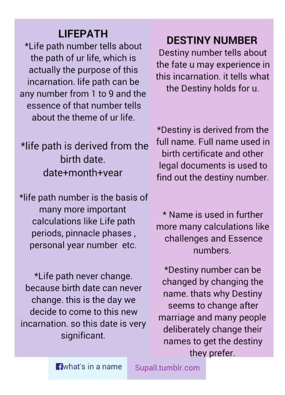 Life path number and destiny number | Numerology Chart | Numerology