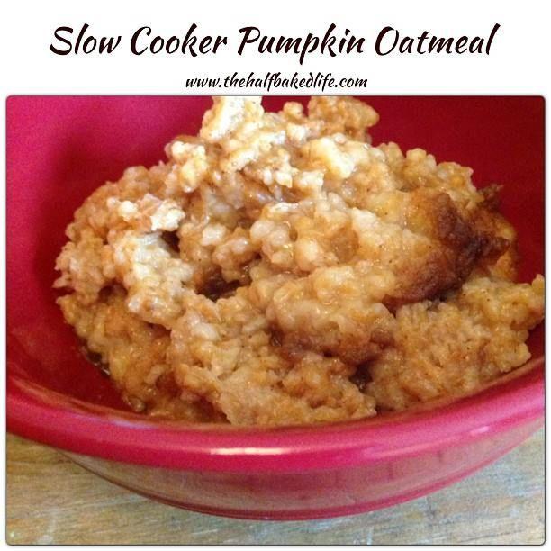 Slow Cooker Pumpkin Oatmeal# slow cooker healthy recipes