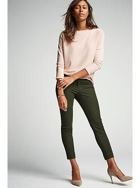 Lightweight Drop-Shoulder Sweater, Patterned Pixie Chinos | Old Navy | Fall 2015