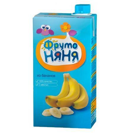ФрутоНяня Нектар из бананов с мякотью с 6 мес, 500 мл (тетра пак)  — 55р.   ФрутоНяня Нектар из бананов с мякотью с 6 мес, 500 мл (тетра пак)  Бананы содержат много пектиновых веществ, что оказывает благоприятное влияние на работу кишечника малыша. Калий, содержащийся в бананах, регулирует водный баланс, влияет на общий тонус и оказывает существенное влияние на сердечную деятельность.  Состав: пюре из бананов сахар лимонная кислота аскорбиновая кислота вода. Без добавления консервантов…