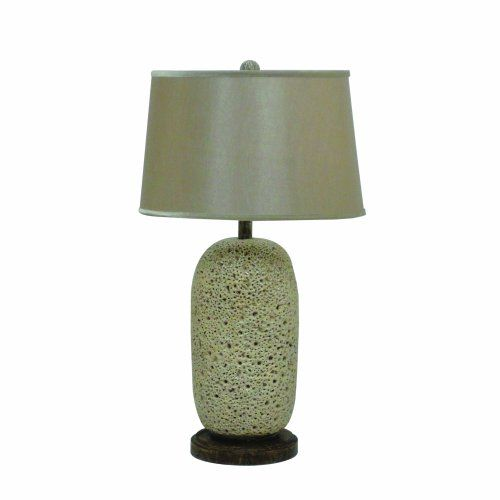 YOSEMITE HOME DECOR PTLA01608 29-INCH RESIN TABLE LAMP WITH FABRIC SHADE, GREY - Click image twice for more info - See a larger selection of traditional table lamps at http://tablelampgallery.com/product-category/traditional-table-lamps/  - home, home decor, lightning, gift ideas, lamp.
