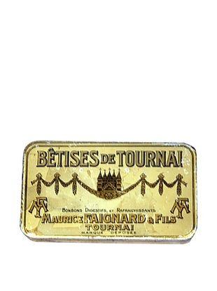 49% OFF Vintage Betises de Tournai-Maurice Faignard & Fils Tin, Gold/Cream