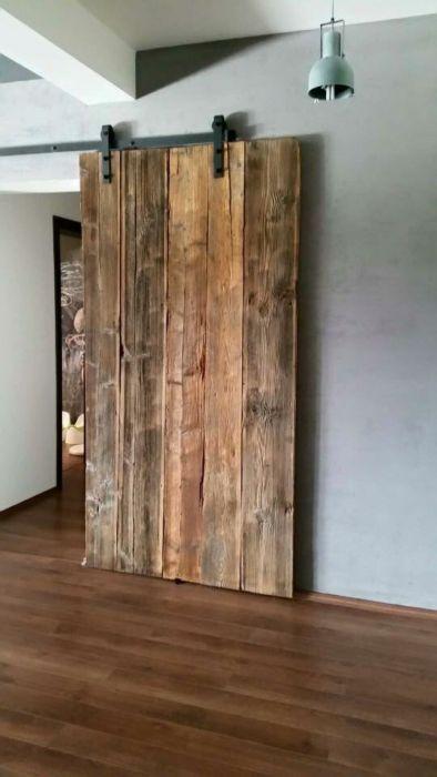 Drzwi przesuwne ze starego drewna loft design retro vintage industrial Kraków Stare Miasto • OLX.pl