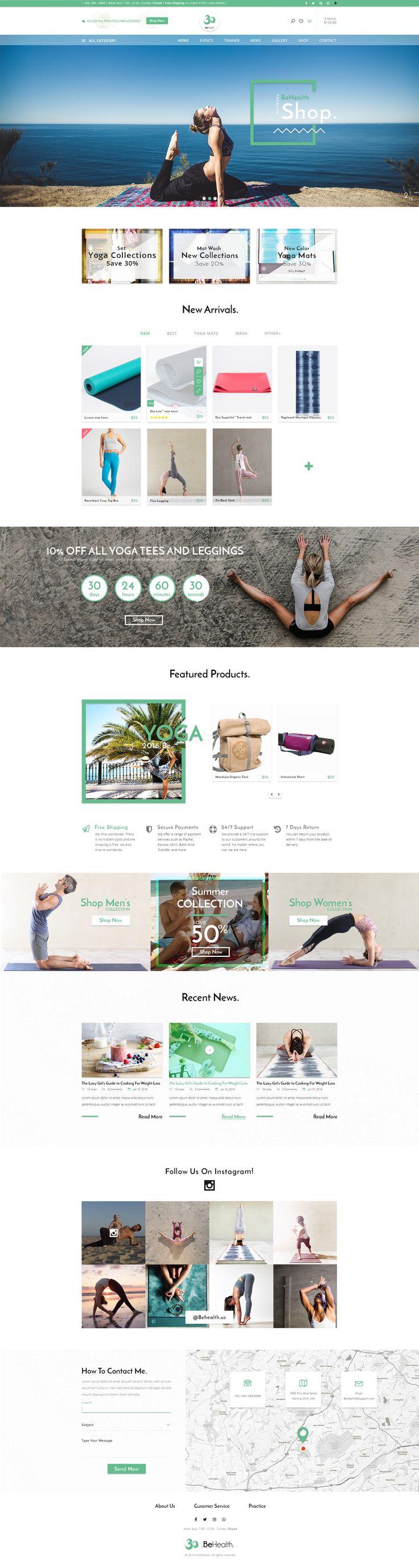 BeHealth - Yoga & Health Center PSD Template