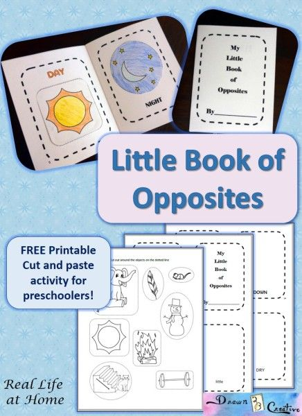 FREE Little Book of Opposites Printable
