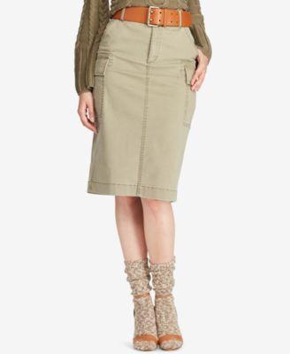 8b856a05dc4 Polo Ralph Lauren Stretch Twill Cargo Skirt