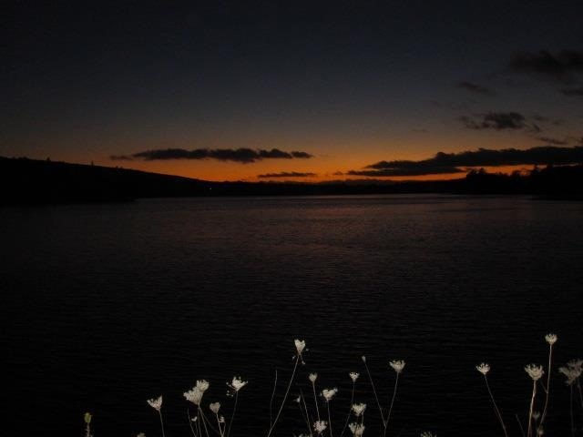 Sunset off the bridge in orangedale cape Breton