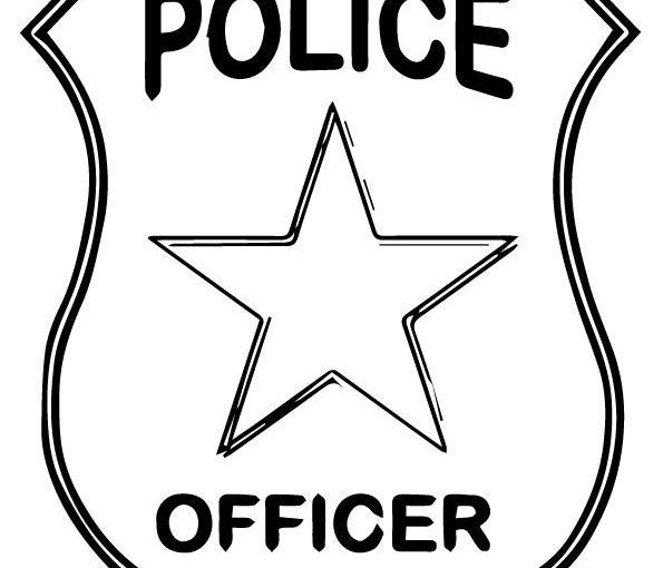 Police Badge Template for Preschool Free Print Coloring
