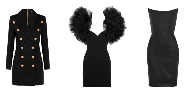 """""""LBD 1"""" by trend-anonymous on Polyvore featuring Balmain, Yves Saint Laurent and Gareth Pugh"""