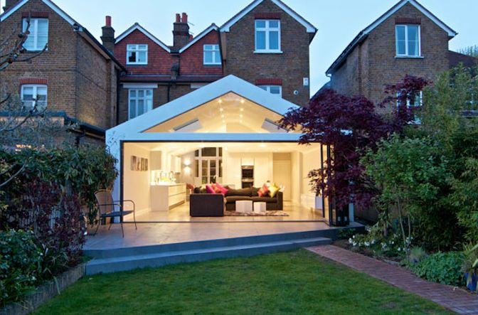 Old house with a really modern extension
