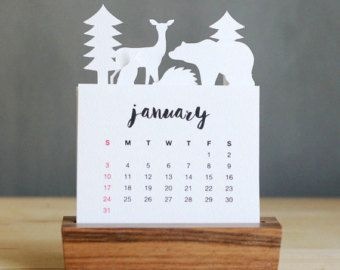 2016 Minimalist Paper Cut Desk Calendar with Solid by PurnaProject                                                                                                                                                     More
