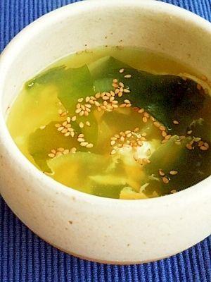 お手軽★わかめの鶏がらスープ レシピ・作り方 by mikeneko288|楽天レシピ