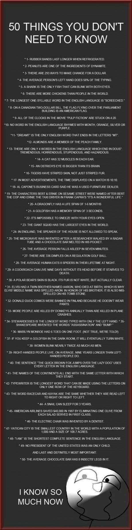 50 random facts