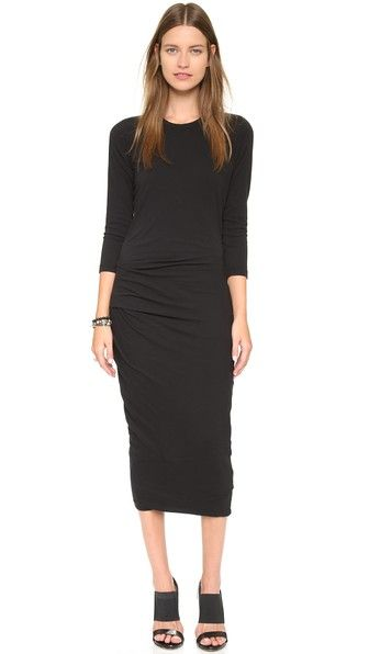 James Perse Raglan Tuck Dress