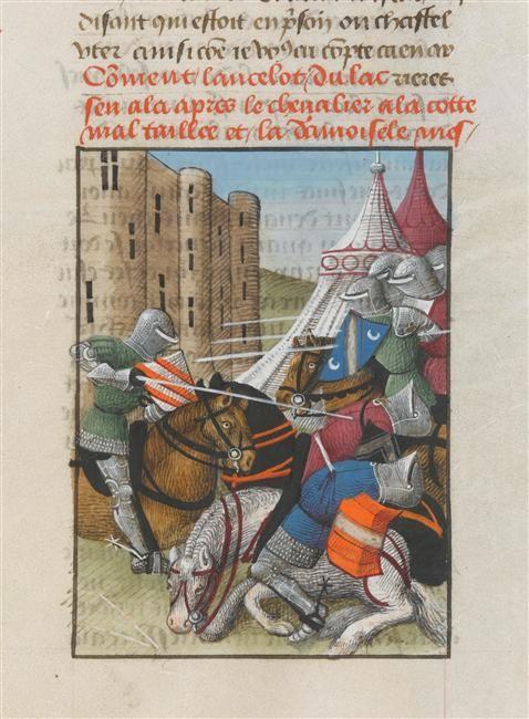 Roman de Tristan en prose Espinques Evrard d' (15e siècle) ,  enlumineur COTE CLICHÉ04-505040