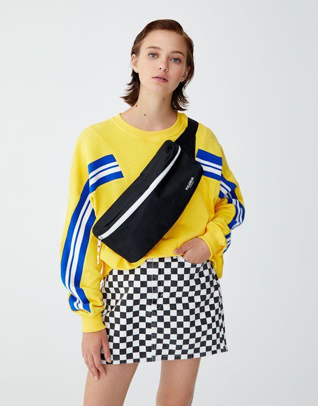 0b0cbe705d7 Sporty sweatshirt with stripes - pull bear