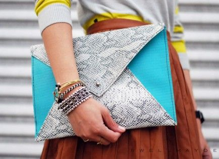 DIY Neon Envelope Clutch