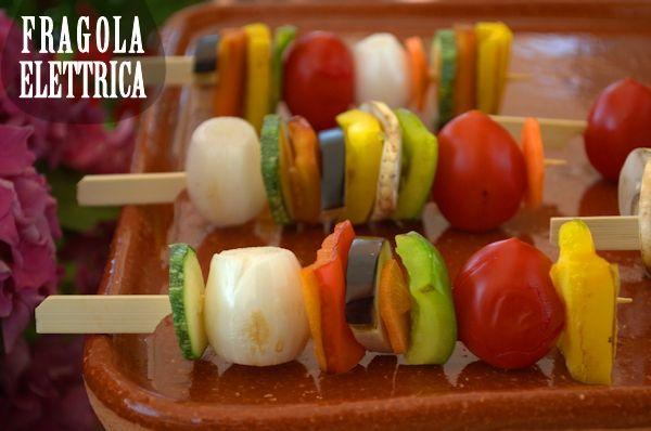 SPIEDINI DI VERDURE fragolaelettrica.com Le ricette di Ennio Zaccariello #Ricetta