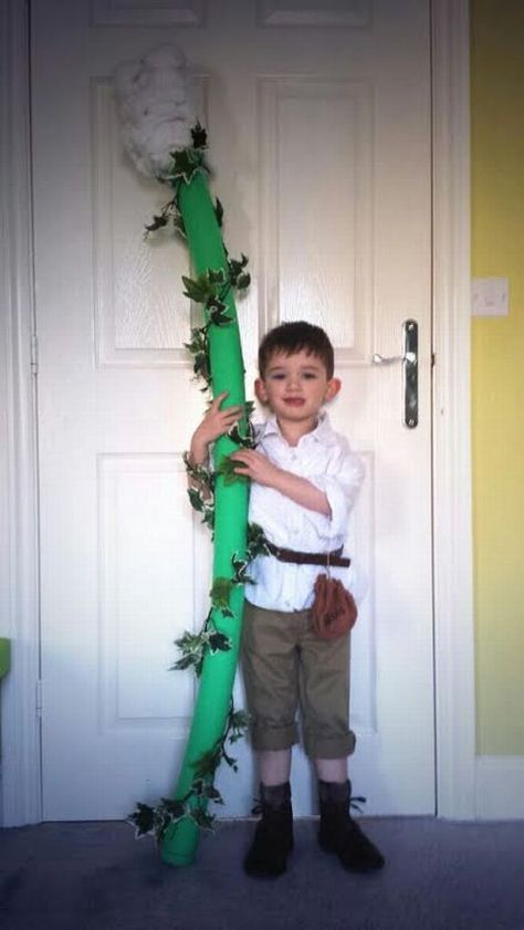 "Fairy Tales: Cute ""Jack and the Beanstalk"" costume with a pool noodle. Great for  a ""Book Week"" celebration."