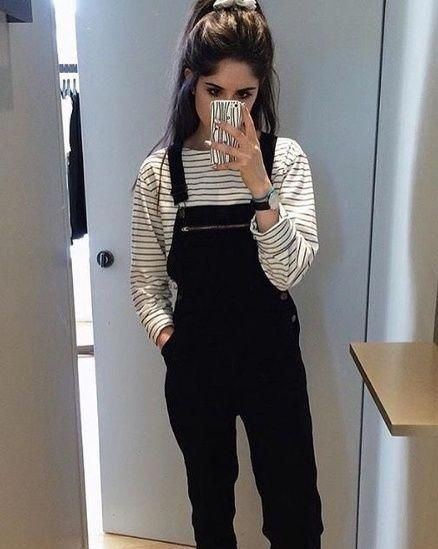 #casual #overalls #grunge #edgy #ShopStyle #WeekendLook #ad #shopthelook #casualfashionoutfits