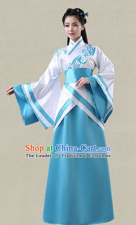 07a271b6a White Hanfu Clothing Custom Traditional Han Dynasty Chinese Hanfu Dreses Han  Clothing Hanzhuang Historical Dress and Accessories Complete Set
