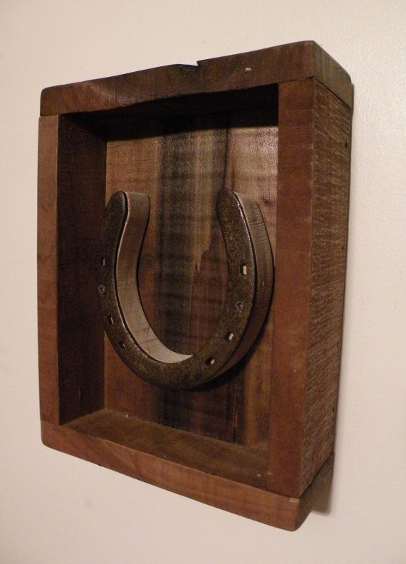 Horse Shoe Shadow Box Wall Decor No3 by SouthwindCrafts on Etsy, $30.00