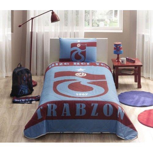 Taç Lisanslı Bize Her Yer Trabzon Yatak Örtüsü