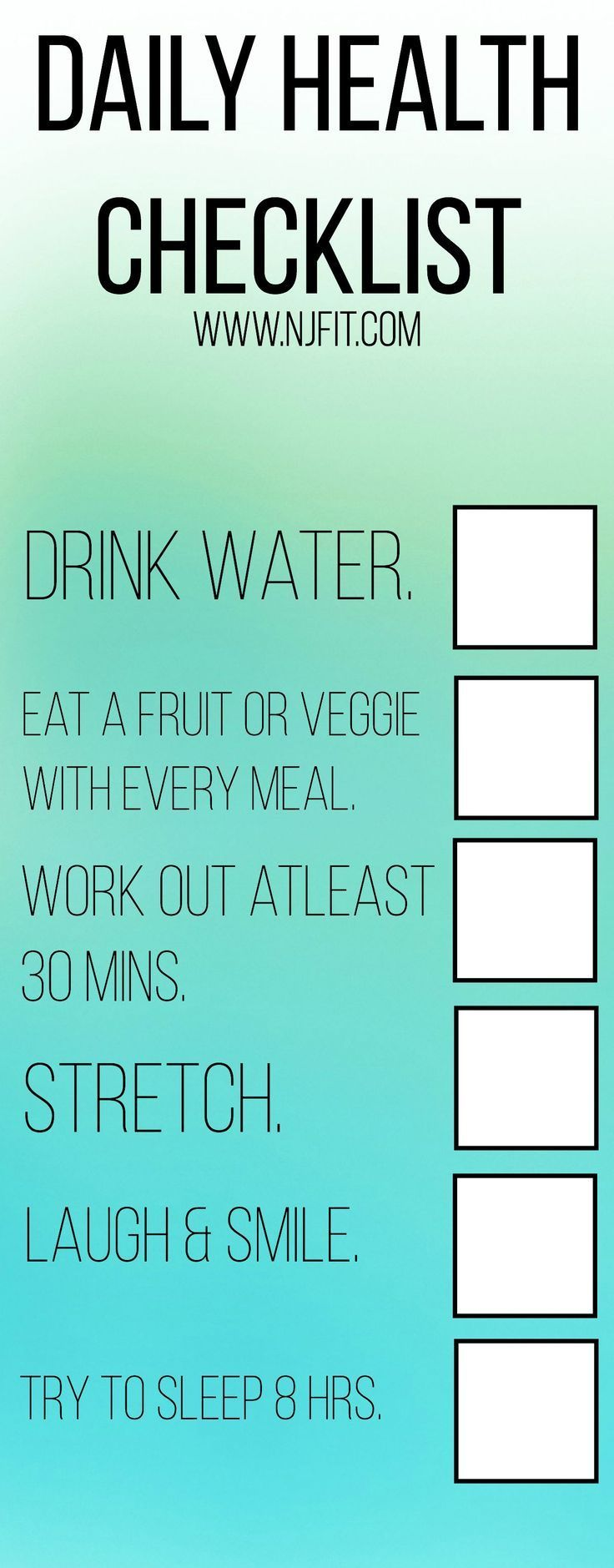 It's easy to get busy and forget the simple steps to a daily health routine. Here is a checklist. Save & repin as a reminder for those busy days. #medicalcentresydneycbd #bookmedicaldoctorssydney #sydneycbdmedicalpractice #doctorsydneycbd #medicalcentresydneycbd