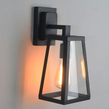 Antique Matte Black Lantern Outdoor Wall Sconce - US$99.99 : Homary.com