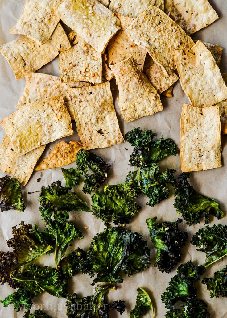 Miso dust kale and tofu chips